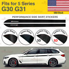 For BMW G30 G31 5 Series M Performance Side Skirt Sill Vinyl Decal Stickers US