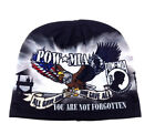 UNITED STATES ARMED FORCES UNCUFFED FLEECE BEANIE US BALD EAGLE MILITARY HAT CAP