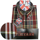 Warrior UK England Button Down Shirt JIMMY Slim-Fit Skinhead Mod Retro
