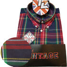 Warrior UK England Button Down Shirt PISTOLS Slim-Fit Skinhead Mod Retro