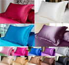 Pure Mulberry simulation Silk Pillow Cases Cushion Covers  Bedroom pillowcases  image