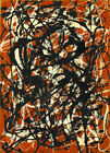 Jackson Pollock - Free Form HD Print on Canvas Large Wall Picture Multisize