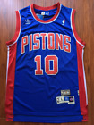 Dennis Rodman Pistons Jersey Detroit Blue Throwback Swingman Sewn Stitched NWT