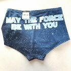 """Star Wars Boyshorts Panties """"May the Force be With You"""" Lucas Film Ltd Blue $9.99 USD on eBay"""