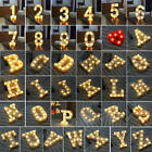 0-9 Numbers 26 Letters LED Night Light Marquee Sign Alphabet Lamp Birthday Party
