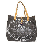 Campomaggi Shopper Handtasche Tasche Damen Canvas Grau C001671ND X0009 F0520
