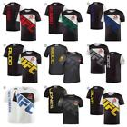 Men's Combat Reebok UFC Fan Fighter Jersey Walkout Shirt Tee T-Shirt