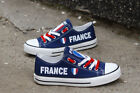 FRANCE FRENCH Flag Women's Men's Sneakers Shoes Football World Cup 2018 Soccer