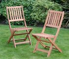 Folding Jakarta Garden Solid Wood Chairs Fold Flat For Easy Storage
