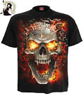 Spiral Direct Mens Skull Blast Short Sleeve Black Tee T Shirt