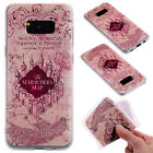 3D Embossing Matte Clear Soft TPU Case Cover For Samsung Galaxy Series S8 Phone