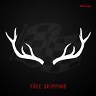 Deer Antlers Vinyl Decal Sticker | Buck Hunting Fishing Outdoor Redneck 587