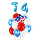 MagiDeal 4th of July US Stripe Flag Latex Foil Balloon Independence Day Decor