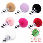Furry Lovely The Rabbit's Tail Insert Metal Plug The Anus Sex Adult Toy Game