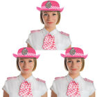 PACK OF PINK WPC POLICE WOMAN HAT SCARF EPAULETTES FANCY DRESS OFFICER HEN PARTY