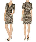 New KAREN MILLEN Texture Print BNWT £160 Evening Party Work Office Wrap Dress