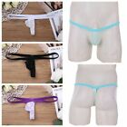 Mens Sexy See through G-String T-back Underwear Thong Low Rise Panties Briefs