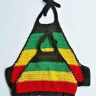 Crochet Top crop women Bohemia style Reggae,Traditional tie. Handmade