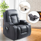 Overstuffed PU Leather Relaxing Therapeutic Massage Recliner W Targeted Relief