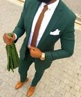 Fashion Men Slim Fit Green Tuexdos Groom Suit Casual Dinner Party Suit Custom