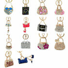 Внешний вид - 3D Crystal Rhinestone Keyring Charm Pendant Bag Purse Car Key Chain Ring Gift