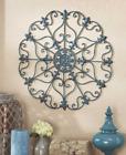 Iron Wall Decor Round Metal Medallion Hanging Indoor Home Outdoor Patio Large