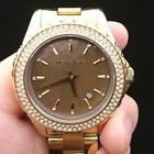 New Old Stock MICHEAL KORS MK5452 Mother Of Pearl Gold Plated Quartz Women Watch
