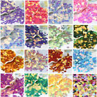 Внешний вид - 480Pcs 7mm Shiny Flowers Loose Sequins Paillettes DIY Craft Sewing Dance Costume