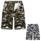 Male Shorts Army Military Cargo Shorts Work Fishing Camo Shorts Cotton Blends