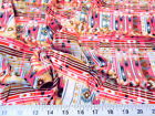 Payless Fabric Challis Rayon Apparel Aztec Pink Brown Gray White
