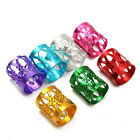 Dreadlock Beads Decor Hair Braid Rings Cuff Clip Tube Jewelry Adjustable 50Pc