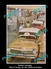 LARGE HISTORIC PHOTO OF GM HOLDEN, THE EJ HOLDEN 1 MILLIONTH CAR c1962
