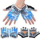Womens Men Outdoor Sports Half Finger 3D GEL Gym Fitness Training Cycling Gloves