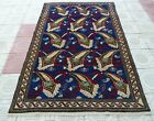 Antique *Never Used* Caucasian Kazak Handmade Dowry Rug 5ftx 7ft  Free Shipping