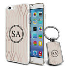 Personalised Marble Design Phone Case Cover & Keyring for Various Phones - 627
