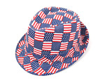 "Summer Hat "" AMERICAN FLAG "" Patriotic Fedora Hat Summer Stay Cool Hat"