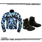 motorcycle racing jacket coat waterproof leather shoes motorbike touring boots