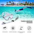 180° Scuba Dive Snorkeling Silicone Mask Long Dry Snorkel Tube Gear Combo Set US