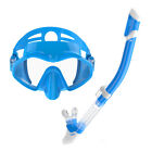 Anti fog Snorkel Set Full Silicone Diving Mask Dry Breath Tube Scuba Swimming