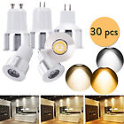 30X Mini LED Spotlight 3W GU10 MR16 GU5.3 Bulb Lights AC DC 12V 110V 220V Lamps
