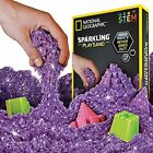 NATIONAL GEOGRAPHIC Sparkling Play Sand 2 LBS of Shimmering Sand /Castle Molds