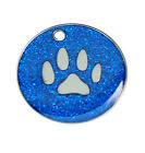 LARGE 32MM Glitter Pet ID Tags CAT/Dog Engraved Free