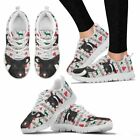 Angeln Saddleback Pig Print Christmas Running Shoes For Women-Free Shipping