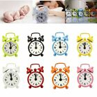 Travel Desktop Kids Portable Round Alloy Dial Number Mini Alarm Clock