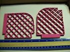 LEGO 2 DARK PINK WALL LATTICE 12X1X12 CURVED BELVILLE 5860 5890