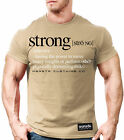 NEW Men's Monsta Clothing Strong Adjective (definition) T-Shirt: Military Tan