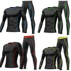 Mens Compression Pants or Shirt Exercise Base Layers Running Tights Gym Clothes