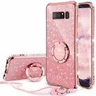 For Samsung Galaxy Note 8 Case Heavy Duty Cover Glitter Bling Diamond Rose Gold