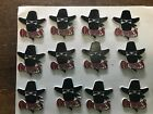 Vintage Lot of 12 USFL Oklahoma Outlaws Rubber Standings Board Fridge Magnets