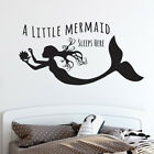 Mermaid Quote Wall Sticker - A Little Mermaid Sleeps Here Wall Sticker